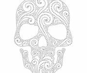 Coloring pages Mexican skull to print
