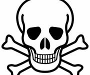 Coloring pages Pirate skull