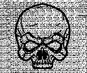 Coloring pages Scary skull for children