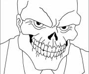 Coloring pages Skull Movie