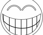Coloring pages Funny smiley