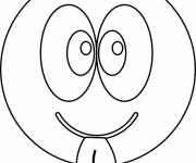 Coloring pages Insolent Smiley