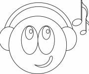 Coloring pages Music smiley