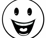 Coloring pages Smiley laugh