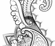 Coloring pages Abstract art to cut out