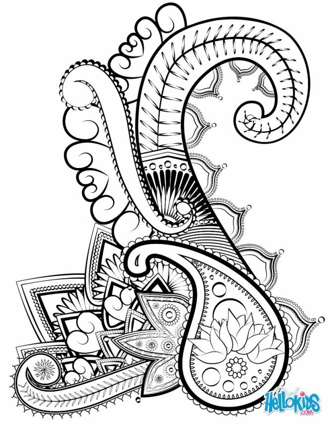 Free coloring and drawings Abstract art to cut out Coloring page