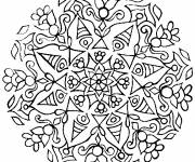 Coloring pages Abstract difficult mandala