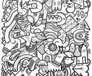 Free coloring and drawings Adult to relax Coloring page