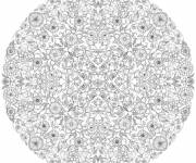 Free coloring and drawings Complex Anti-Stress Mandala Coloring page