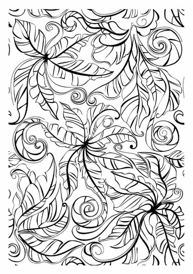 Free coloring and drawings De-stressing Landscape Coloring page