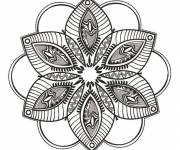 Coloring pages Difficult Fantasy Mandala