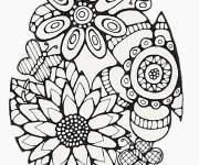 Coloring pages Difficult Flowers