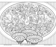 Coloring pages Friendly Anti-Stress Table