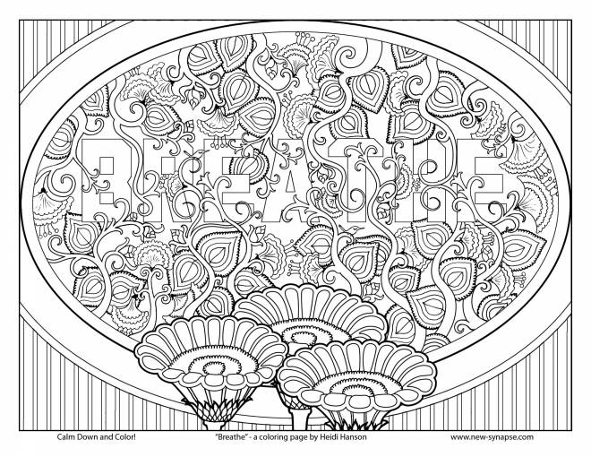 Free coloring and drawings Friendly Anti-Stress Table Coloring page