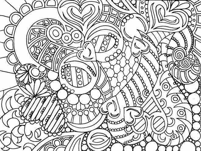 Free coloring and drawings Hearts For Adults Coloring page
