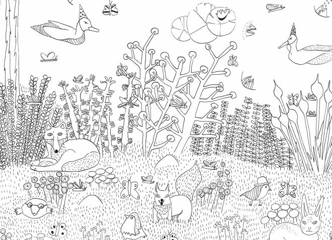 Free coloring and drawings Life in the Forest Coloring page
