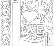Coloring pages Love Art to Relax