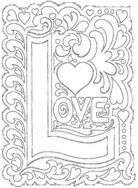 Free coloring and drawings Love Art to Relax Coloring page
