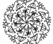 Coloring pages Mandala for relaxation