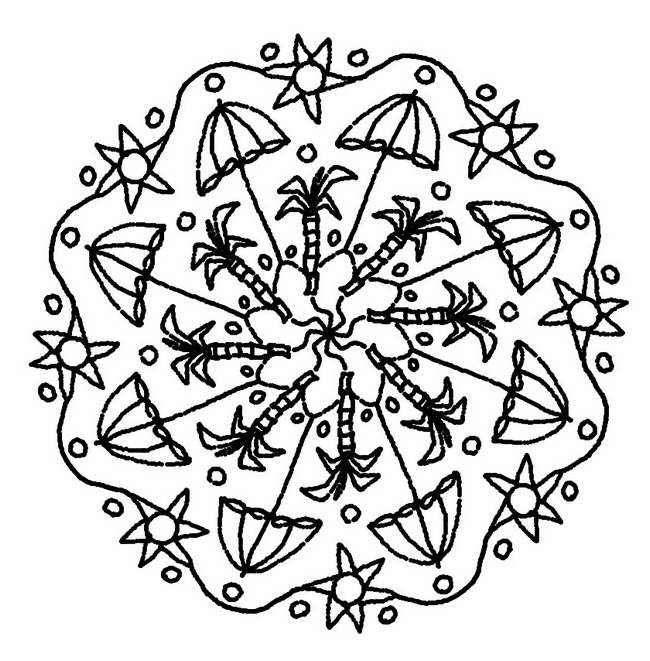 Free coloring and drawings Mandala for relaxation Coloring page
