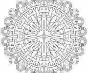 Coloring pages Online mandala to color