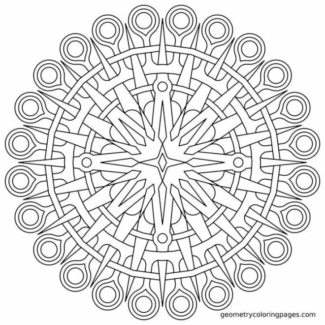 Free coloring and drawings Online mandala to color Coloring page