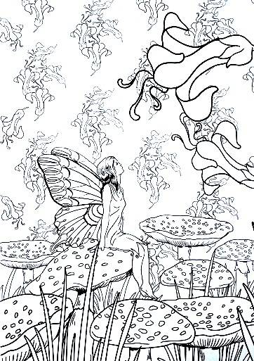 Free coloring and drawings Relaxation for Girl Coloring page