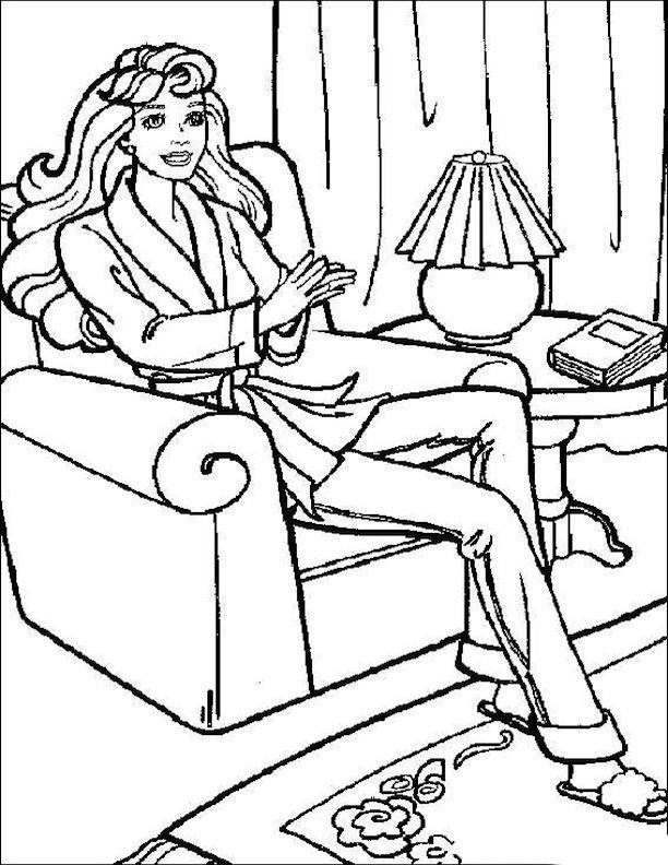 Free coloring and drawings Relaxation in The Lounge Coloring page