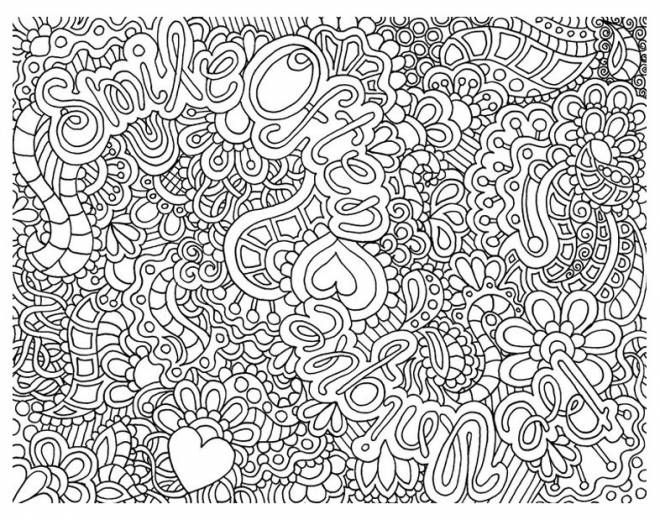 Free coloring and drawings Relaxing adult Coloring page