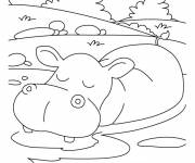 Coloring pages Relaxing african animals