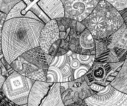 Free coloring and drawings Relaxing and complex Zen inspiration Coloring page