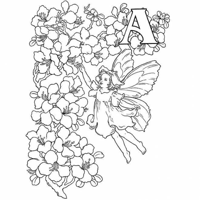Free coloring and drawings Relaxing Angel Coloring page