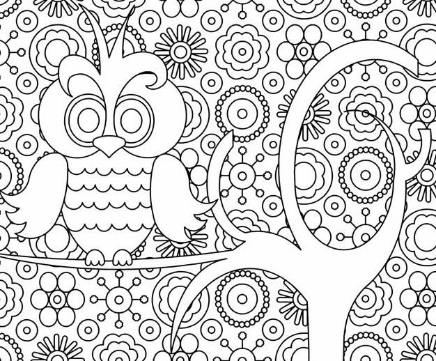 Free coloring and drawings Relaxing Art Theme Coloring page