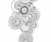 Coloring pages Relaxing artistic portrait