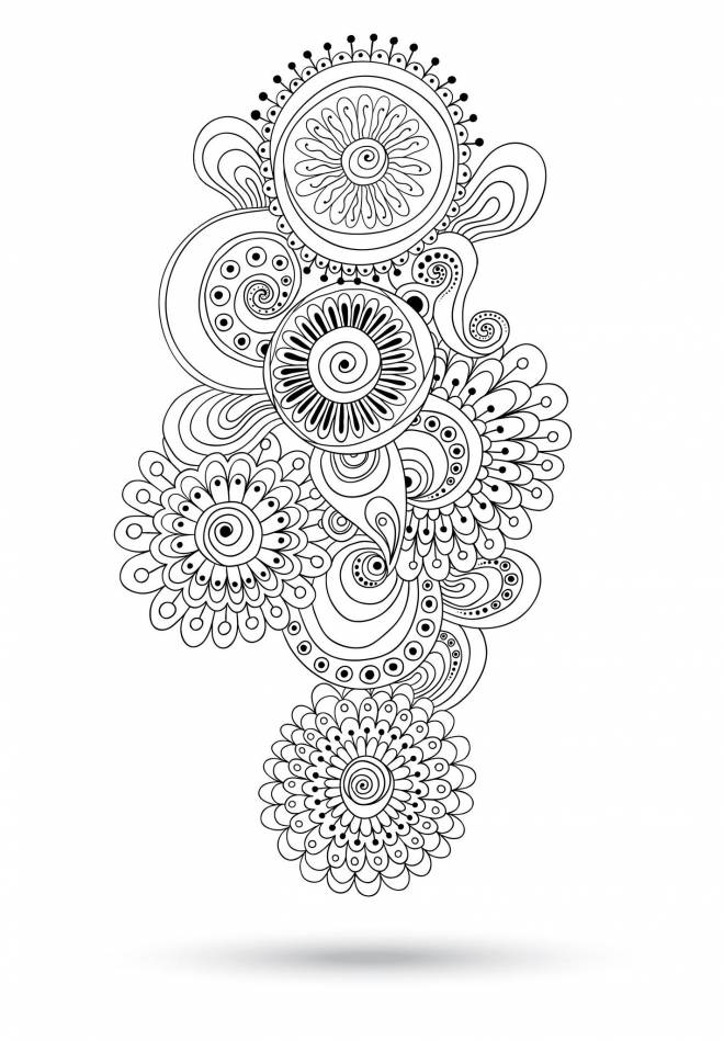 Free coloring and drawings Relaxing artistic portrait Coloring page