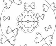 Coloring pages Relaxing Easy knot