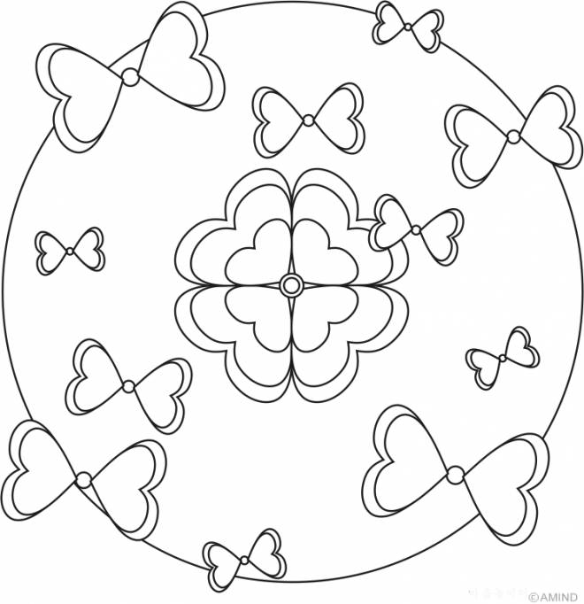 Free coloring and drawings Relaxing Easy knot Coloring page