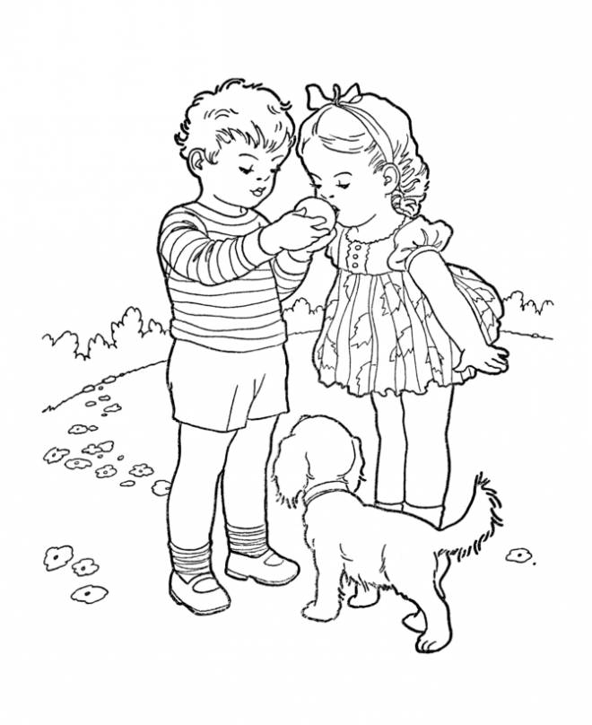 Free coloring and drawings Relaxing Garden Coloring page
