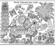 Coloring pages Relaxing Indian Elephant