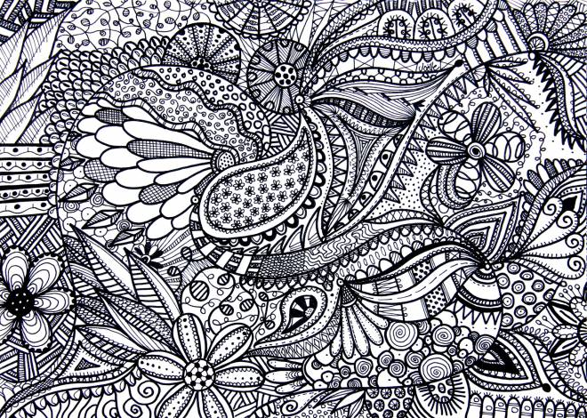Free coloring and drawings Relaxing Landscape for Older Adults Coloring page