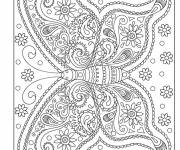 Coloring pages Relaxing Magic Butterfly