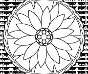 Coloring pages Relaxing Mandala Flower to print