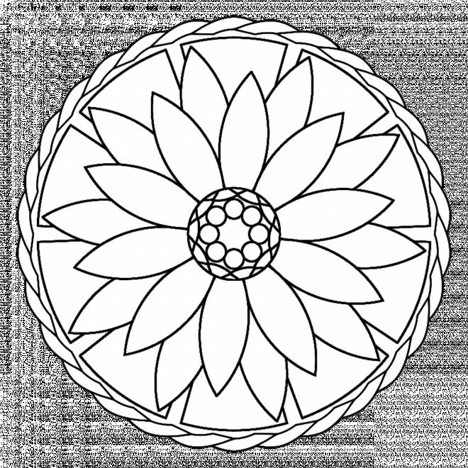 Free coloring and drawings Relaxing Mandala Flower to print Coloring page
