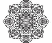 Coloring pages Relaxing Mandala for decoration