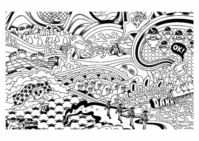 Free coloring and drawings Relaxing on computer Coloring page