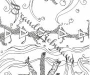 Coloring pages Relaxing Seabed