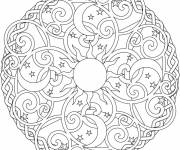 Coloring pages Relaxing Stylized Mandala