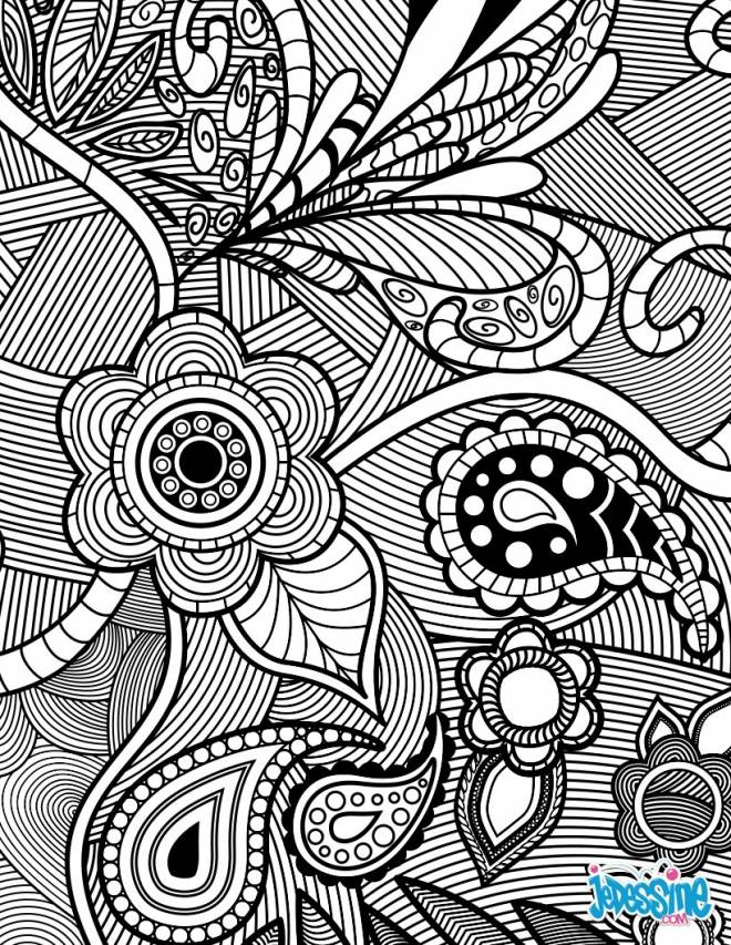 Free coloring and drawings Stylized landscape in black and white Coloring page