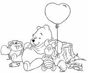 Coloring pages The bear is resting