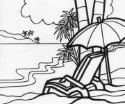 Coloring pages The Relaxing Beach